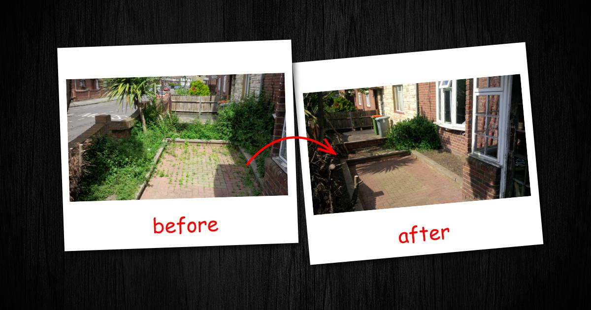 Garden clearance in Brent Cross (Barnet)