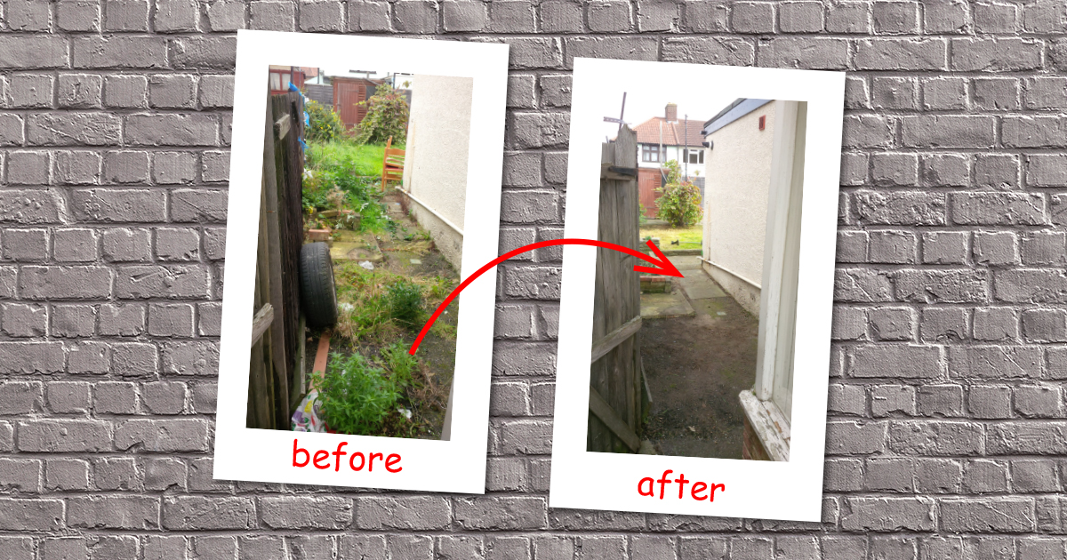 Back garden cleaning in Colindale (Barnet)