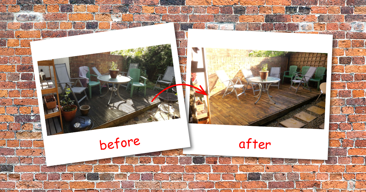Patio cleaning in Edgware (Barnet)