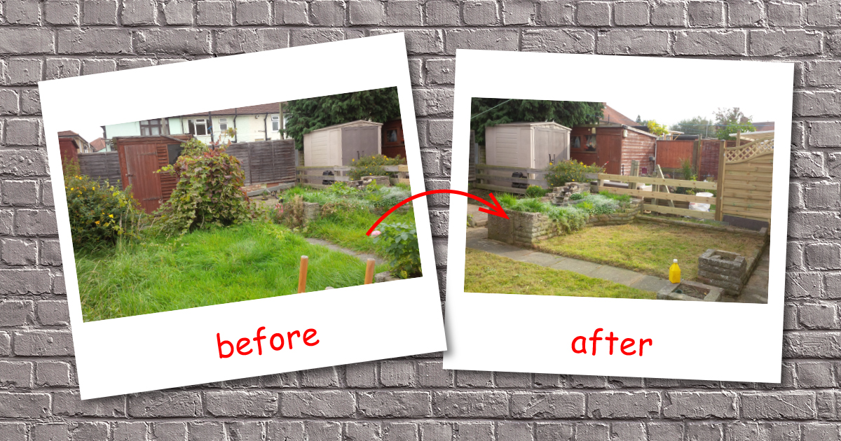 Garden clearance & green waste removal in Hendon