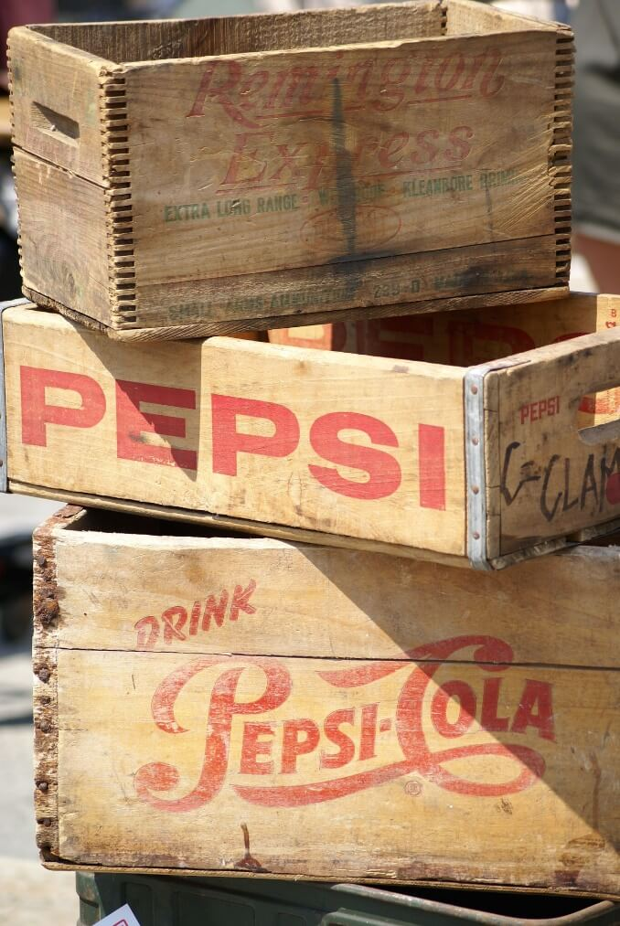 Old pepsi boxes